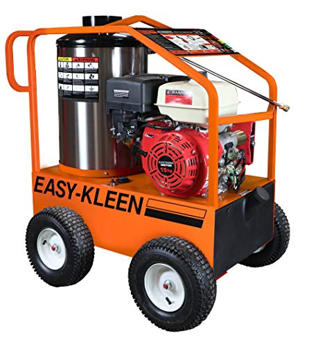 EASY-KLEEN PRESSURE SYSTEMS LTD Commercial 4000 PSI 3.5 GPM Gas Driven Hot Water Pressure Washer Lifan Engine/EK Pump 110/120V ()