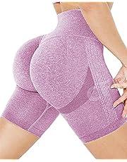 CFR Women's Sexy High Waisted Workout Shorts Scrunch Peach Butt Lifting Anti Cellulite Squat Proof Hot Pants