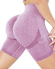 CFR Women's Sexy High Waisted Workout Shorts Scrunch Peach Butt Lifting Anti Cellulite Squat Proof Hot P