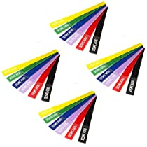 Seismic Audio - SA-V8LCR6-4Pack - Four Pack of Colored Velcro Cable Ties - 8 Inches - (Packs of 6)
