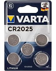 Varta batterijen Electronics CR2025 Lithium knoopcel 3V batterij verpakking met 5 stuks knoopcellen in originele blisterverpakking met 5 stuks