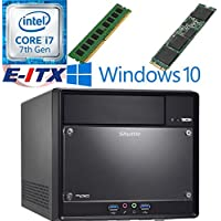 Shuttle SH110R4 Intel Core i7-7700 (Kaby Lake) XPC Cube System , 4GB DDR4, 240GB M.2 SSD, DVD RW, WiFi, Bluetooth, Window 10 Pro Installed & Configured by E-ITX