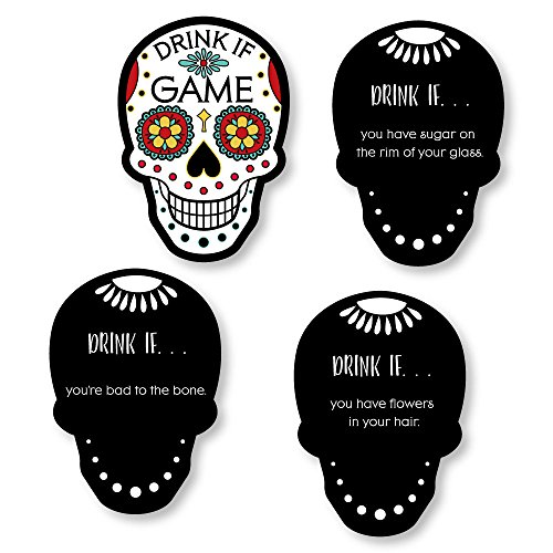 Drink If Game - Day Of The Dead - Halloween Sugar Skull Party Game - 24 (Halloween Adult Drinks)