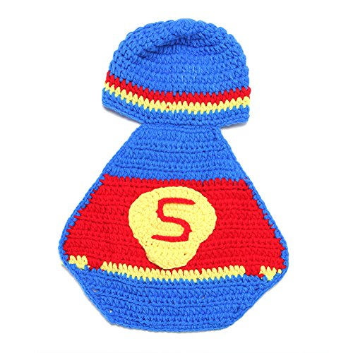 ae7c41f5524 Newborn Baby Girl Boy Crochet Knit Superman Hat Costume Photography Prop  Outfit - Buy Online in Oman.