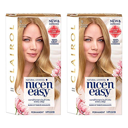 Clairol Nice 'n Easy Root Touch-Up 8 Matches Medium Blonde Shades 1 Kit, (Pack of 2) (PACKAGING MAY -