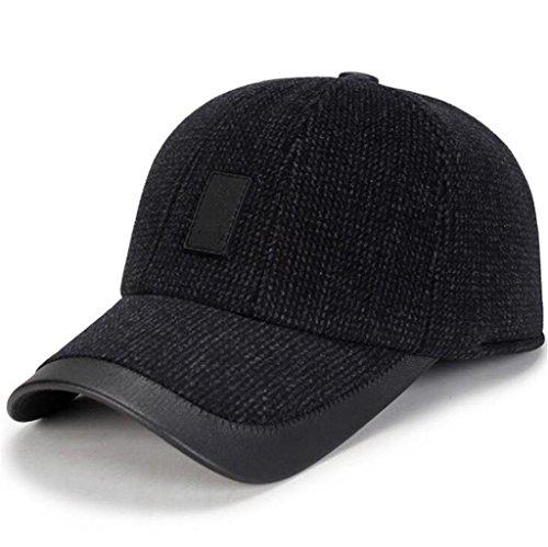 moda oído Bloque engrosada Sombrero invierno de hombres Hat grey viento Aged Pac Middle el casual el proteger de Men's ZHAS dark O0wfXX