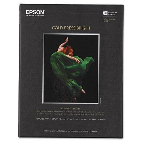 - * Cold Press Bright Fine Art Paper, 8-1/2 x 11, Bright White, 25 Sheets