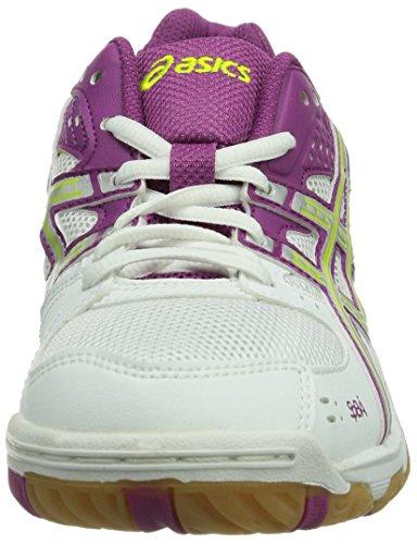 Asics Volleyball Women's Gel Silver White Task Fuchsia Shoes zwzrHUq