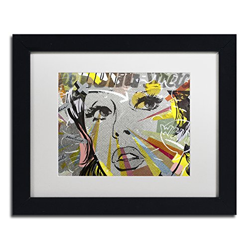 "picture of Trademark Fine Art The Long Stretch Framed Artwork by Dan Monteavaro, 11 by 14"", White Matte/Black Frame"