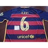 Autographed Xavi Jersey - Hernandez Spain Barcelona Star - PSA/DNA Certified - Autographed Soccer Jerseys
