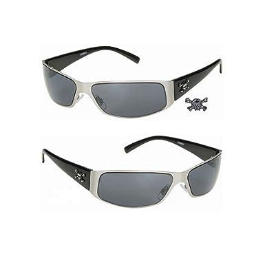 hotrodspirit - lunette de soleil crane pirate metal plastique adulte rock FiHTSZbTf