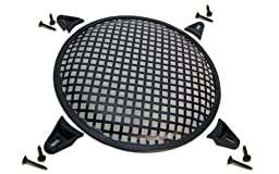 R/T 12-Inch Steel Waffle Speaker Grill with Mounting Brackets and Screws