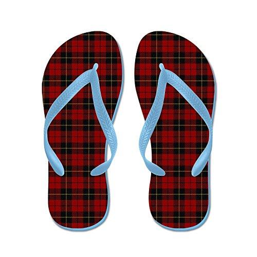Cafepress Wallace Clan Schotse Tartan - Flip Flops, Grappige String Sandalen, Strand Sandalen Caribbean Blue