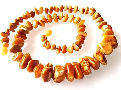 Natural Baltic Amber Necklace / Women / Unique Rare Colour Amber Beads / Healing Amber Necklace / Certified Genuine Baltic Amber