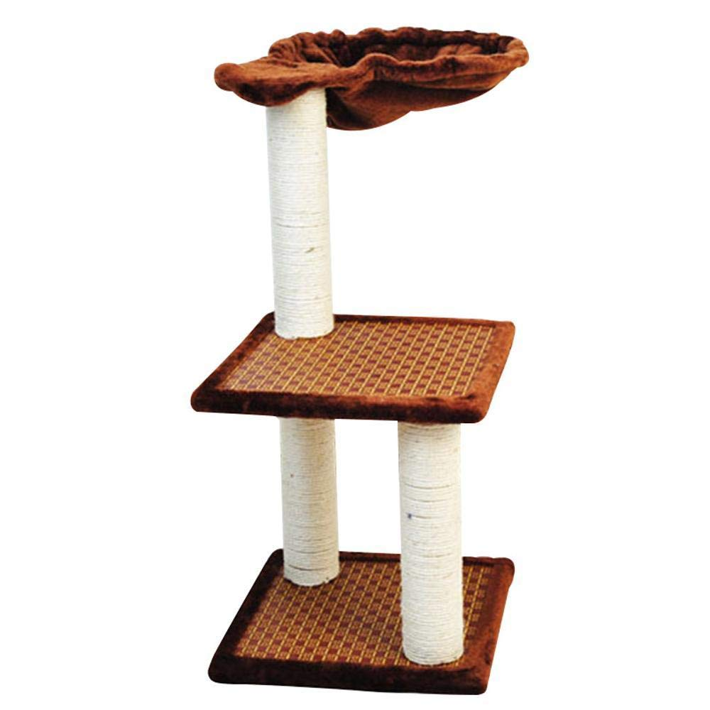 Aoligei Cat Play Towers & Trees Station Cat's Nest big cat stand aquatic rope Cat Scratch Board cat Scratch cat Jumping cat toy 32x32x62cm