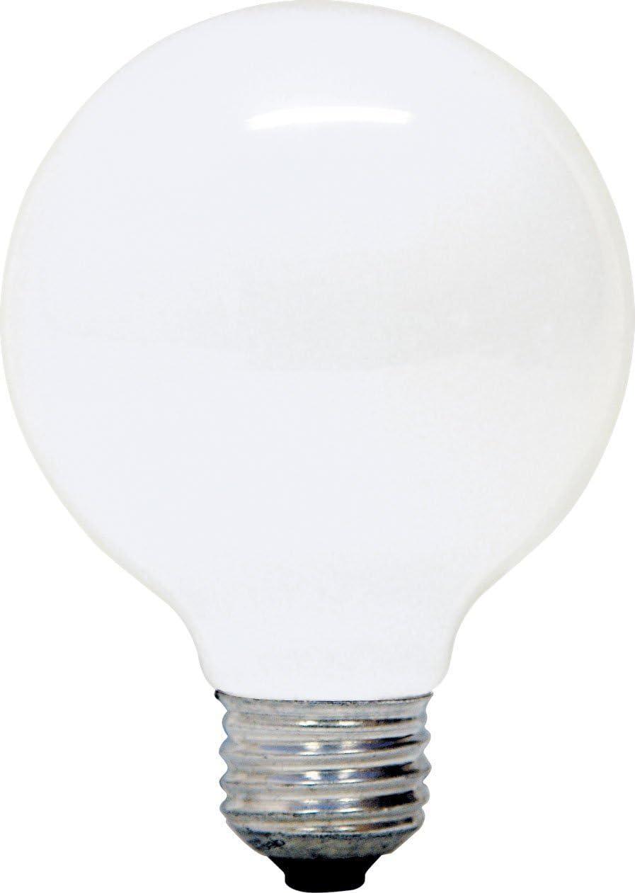 GE Soft White Decorative 40W G25 Globe Light Bulb, 2.7 Year Life, 6 Pack (40 Watts)