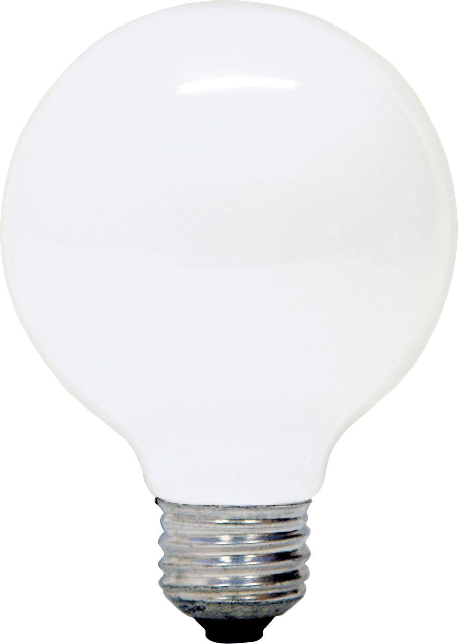 GE Soft White Decorative 25W Incandescent G25 Globe Light Bulb, 2.7 Year Life, 6 Pack (25 Watts)