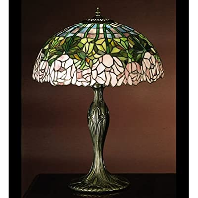 Meyda Tiffany 31143 Stained Glass / Tiffany Table Lamp from the Cabbage Rose Col,