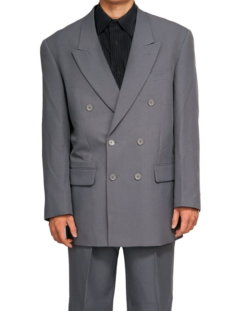 New Era Factory Outlet New Double Breasted Gray (Grey) Men's Business Dress Suit