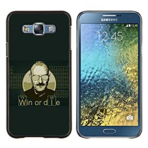 LECELL--Funda protectora / Cubierta / Piel For Samsung Galaxy E7 E700 -- Gane o muera Cita Hombre Vida motivación Éxito --