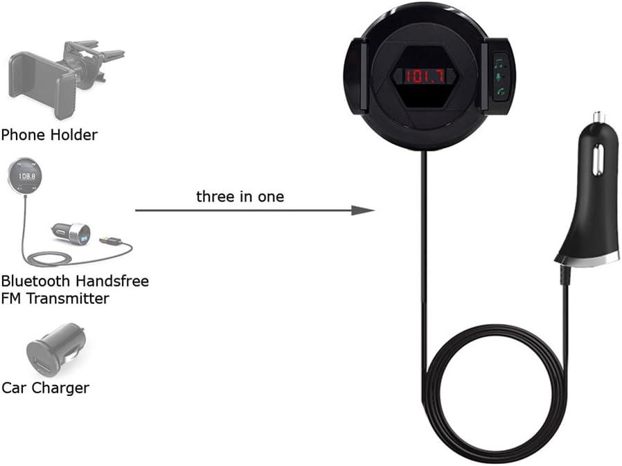 Bluetooth Fm Transmitter Hifi Auto Radio Adapter Freisprechanlage Fürs Auto Ladekabel Mit Zug Handy Halterung Für Iphone Android Und Mp3 Elektronik