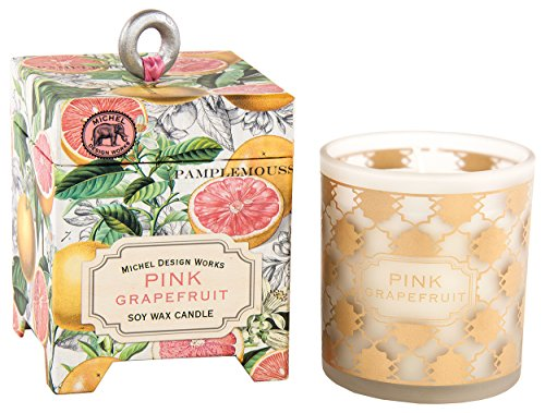 Michel Design Works Gift Boxed Soy Wax Candle, 6.5-Ounce, Pink Grapefruit