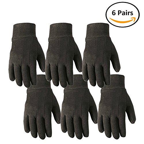 Wells Lamont Work Gloves, Wearpower, Basic Jersey, 6 Pair Pack (501LK-WNW) ()