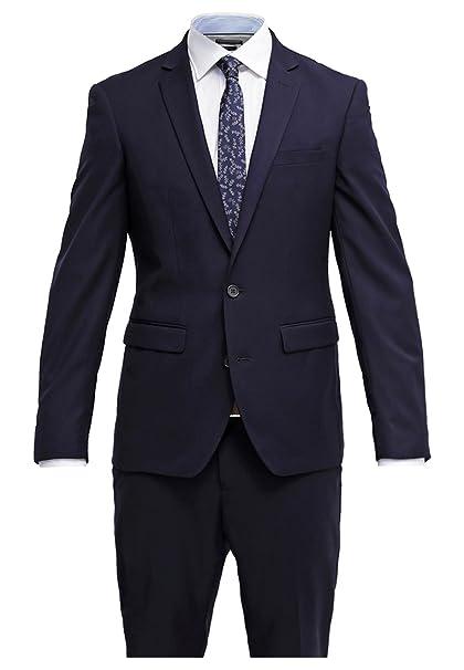 Pier One Traje de Hombre Slim Fit en Azul - Traje para Hombre de Negocios  Talla a9a378ffddc