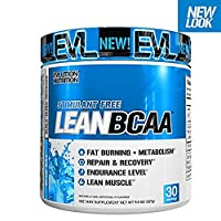 Evlution Nutrition LeanBCAA Powder, Blue Raz, 30 Servings (9.4 Oz)