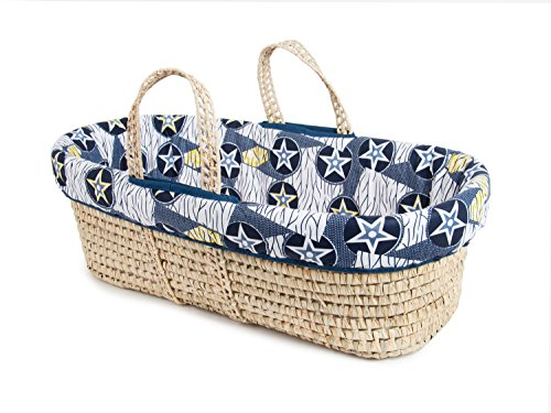 Tadpoles Moses Basket and Bedding Set, Blue (Tadpoles Stars)