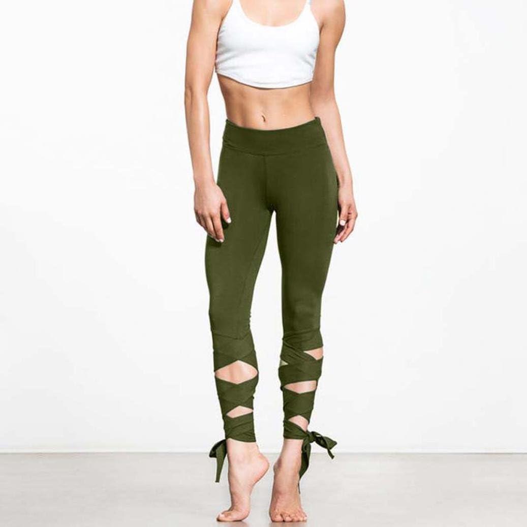 Ballett Design Workout Fitness Joggen Sporthose Fitness Lounge Athletic Bandage Hose abgeschnitten Manadlian Damen Yoga Hosen Bandage Sports Leggings