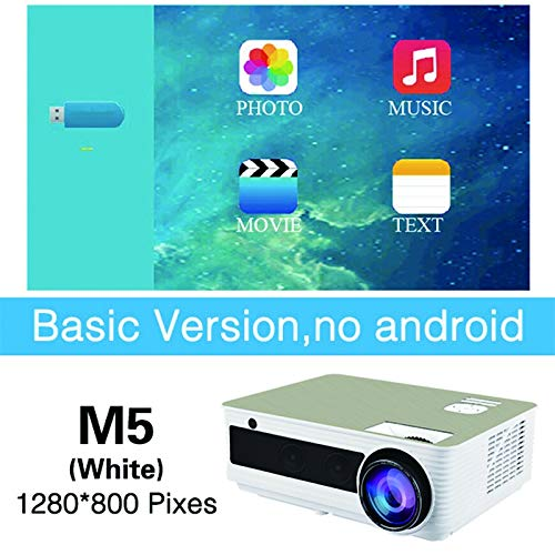 Mini proyector, 4500 lúmenes Compatible con Full HD 1080P ...