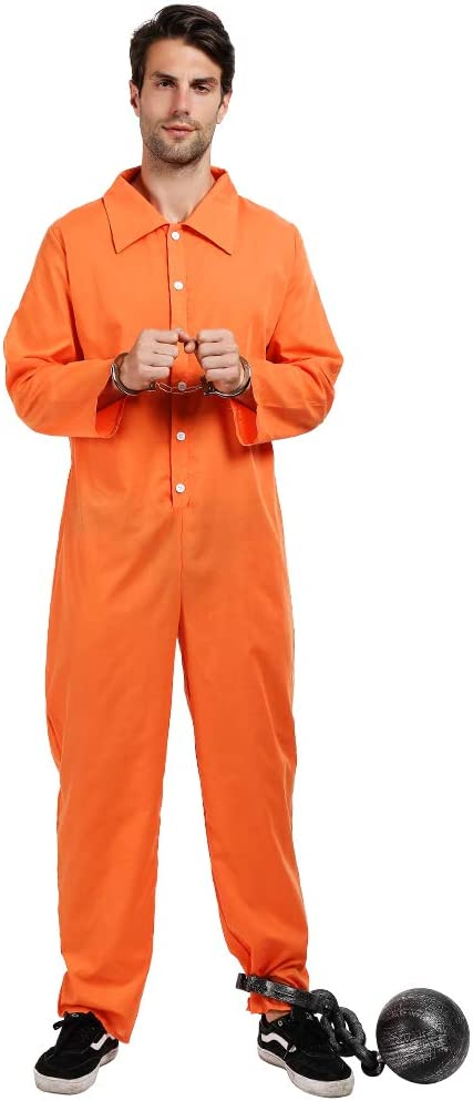 EraSpooky Hombres Prisionero Convicto Disfraz Ladrón Disfraces ...