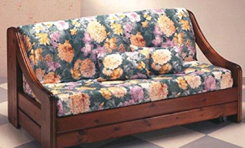Divano montagna pronto letto con struttura legno massello - Divani letto rustici in legno ...