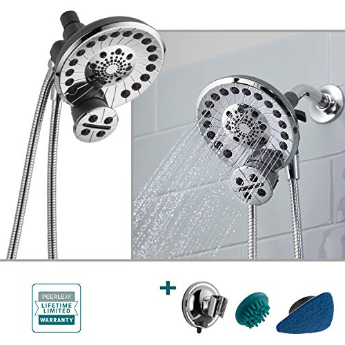 Delta/Peerless SideKick 2-in-1 Shower System 5-Spray Dual Showerhead and Handheld Wand in Chrome