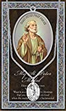 +SAINT PETER Genuine Pewter Medal With Stainless Chain and Prayer Card Copyrighted Pau Herbert Blessing PATRONA Series