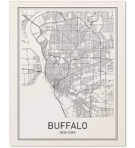 Buffalo Poster, Buffalo Map, Map of Buffalo, Buffalo Art, Minimalist Poster, City Map Posters, Buffalo New York Map, Map Wall Art, Map Art, Scandinavian Poster, 8x10