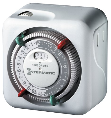 Intermatic Lamp and Appliance Security Timer TN111C70 with 2 On/Off (Switch Security Appliance)