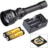 Evolva Future Technology T50 IR 50mm Lens Infrared Flashlight Night Vision Torch Light - Infrared Light is Invisible to Human Eyes - To be used with Night Vision Device (Torch+Battery+Charger)
