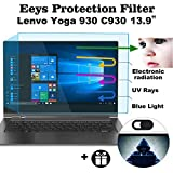2 Pack Eyes Protection Filter Fit 13.9'' Lenovo Yoga 930 C930 2-in-1 Touch-Screen Laptop Anti Blue Light Anti Glare Screen Protector Reduces Digital Eye Strain Help You Sleep Better