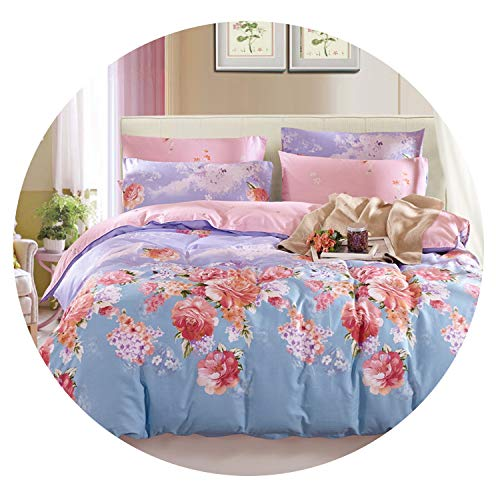 Super lucky shop-bedandbath Bedding Home Textile Cotton Twill Printing Three/Four-Piece Duvet Cover Set Bed,17,200x230cm (4Pcs)