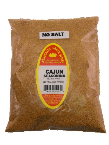 XL REFILL Marshalls Creek Spices Cajun No Salt Seasoning, 22 Ounce