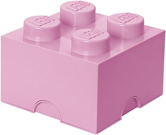 Room Copenhagen-40031738 Ladrillo de Almacenamiento de 4 espigas de Lego, Caja de almacenaje apilable, 5,7 l, Rosa Claro, Color Light Purple 40031738: LEGO: Amazon.es: Juguetes y juegos