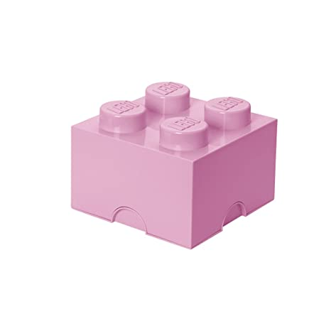 LEGO - Caja de almacenaje 4, color rosa claro (Room Copenhagen 40031738)