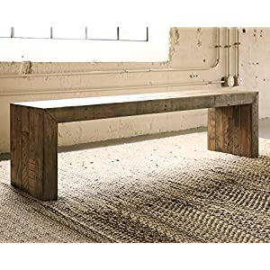 Signature Design by Ashley Ashley Furniture D775-09 Large Dining Room Bench, Brown