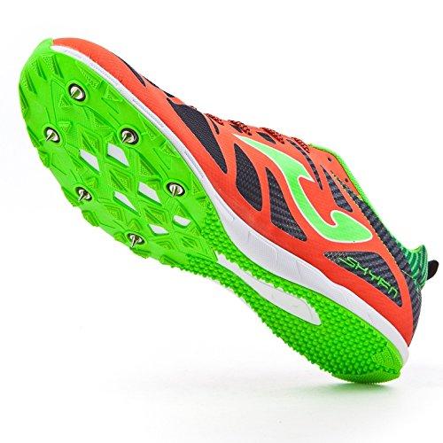Joma 6728 Spikes, Zapatillas de Atletismo Unisex Adulto CORALLO-NERO
