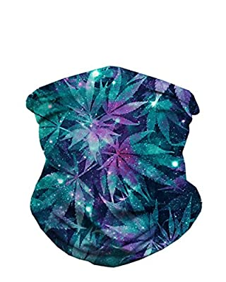 iHeartRaves Ganja Galaxy Weed Seamless Face Mask Bandanas for Dust, Music Festivals, Raves, Riding, Outdoors