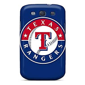 Awesome QXw8055UTcc TJPal Defender Tpu Hard Case Cover For Galaxy S3- Baseball Texas Rangers 1