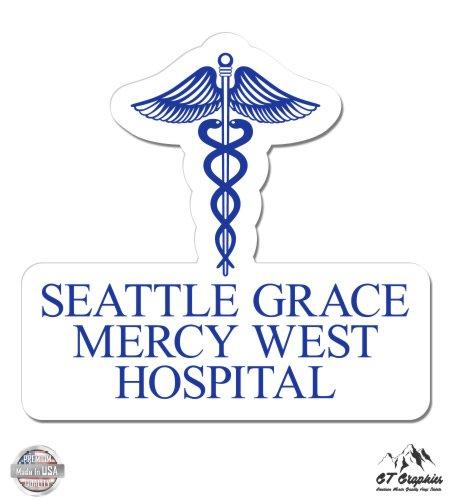 Vinyl Sticker Waterproof Decal GT Graphics Greys Anatomy Seattle Grace Mercy West Hospital