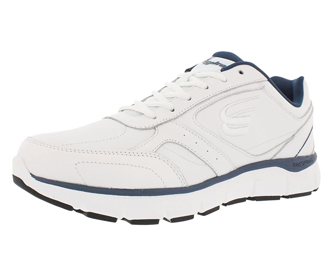 White   Navy Spira WaveWalker Men's Slip Resistant Walking shoes